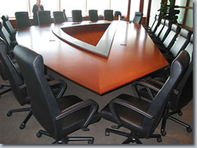 leather chairs in board room